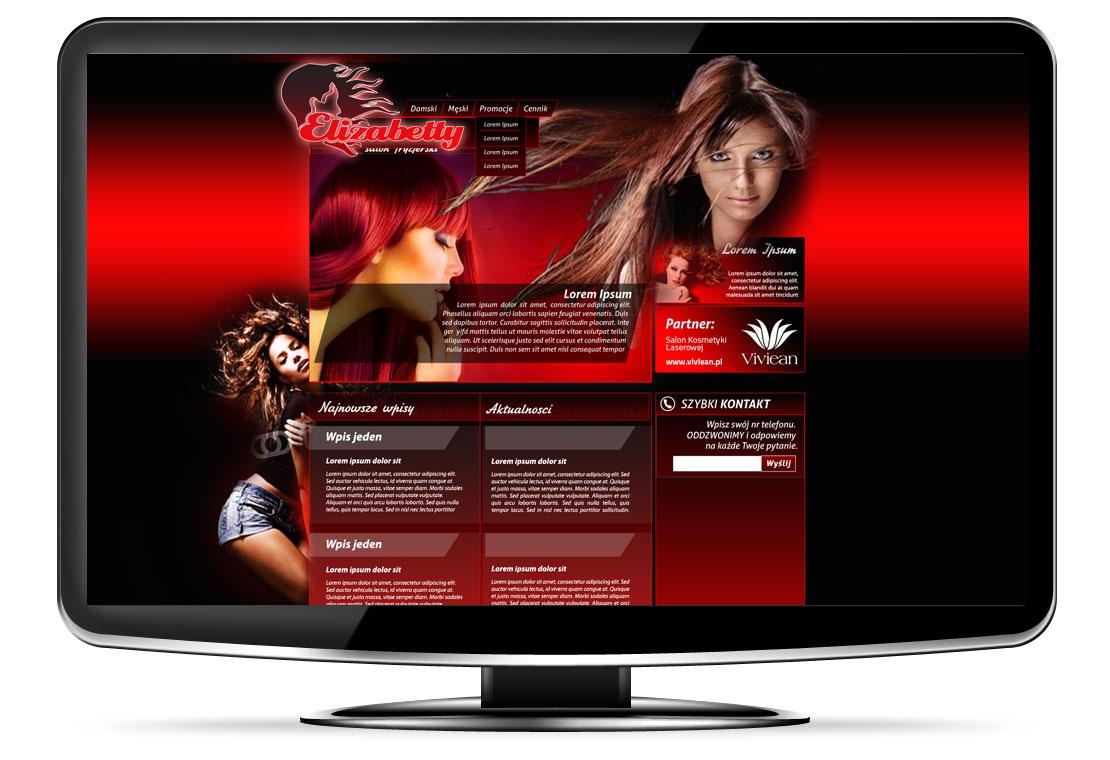Strony www fryzjer