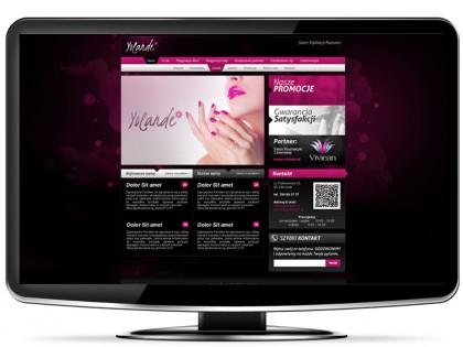 Strona gabinetu kosmetycznego