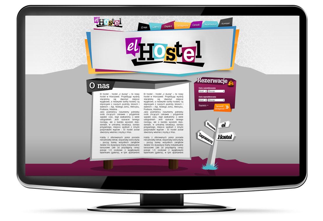 strony www hostel